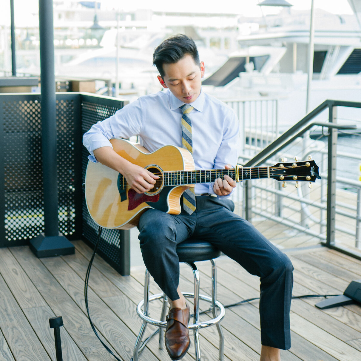 Events - Live music should be a conversation piece. My innovative genre of fingerstyle guitar will have your guests raving about my performance for days after your party.