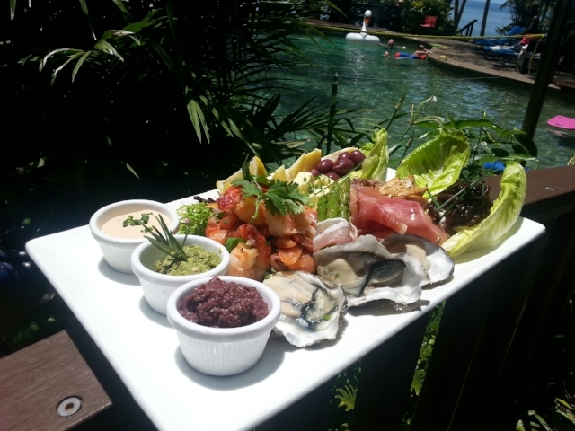 Turtle Cove Beach Resort Adults Only Pool dining Port Douglas