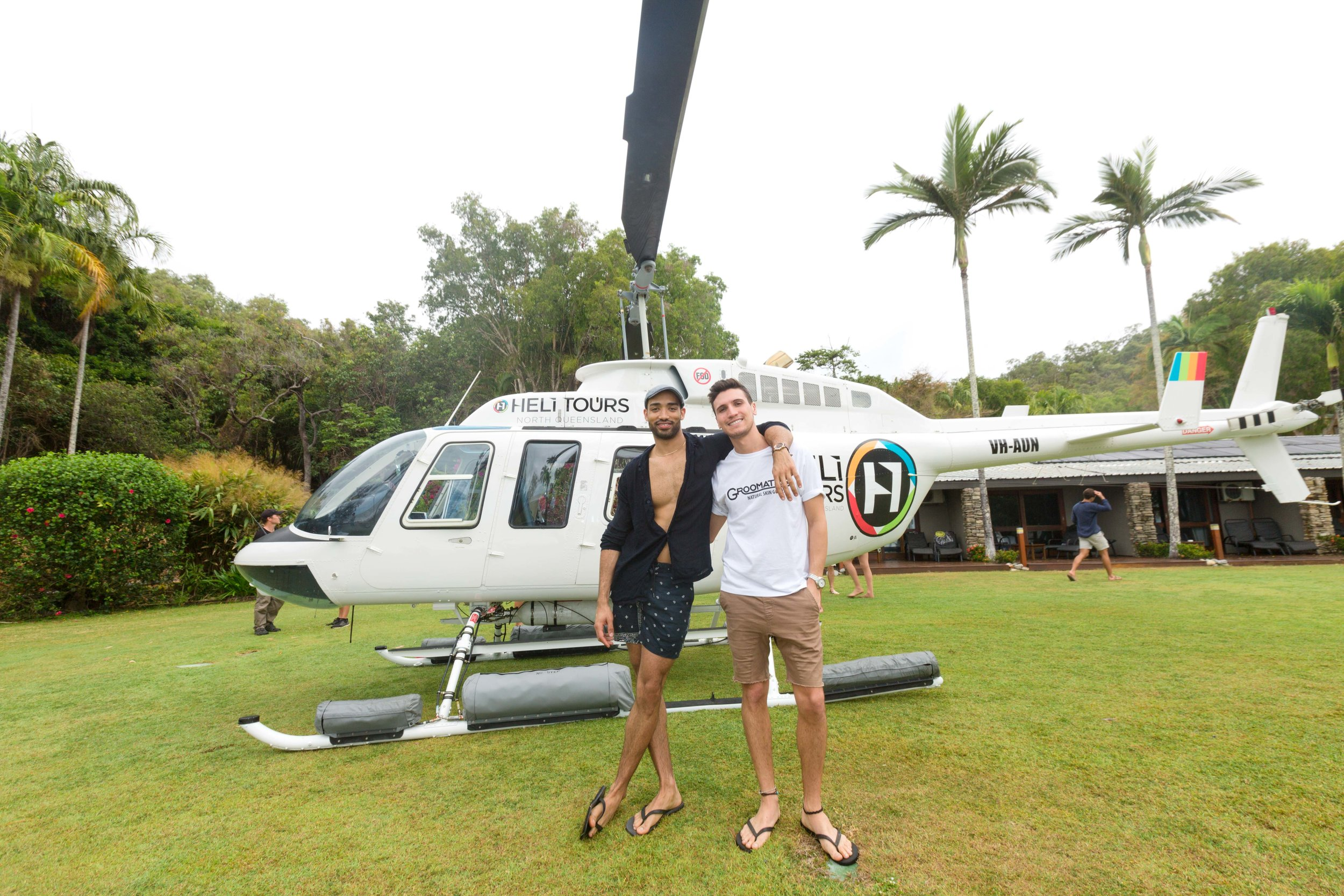 Helicopter transfer - Airport to Beachfront dependent on weather conditions