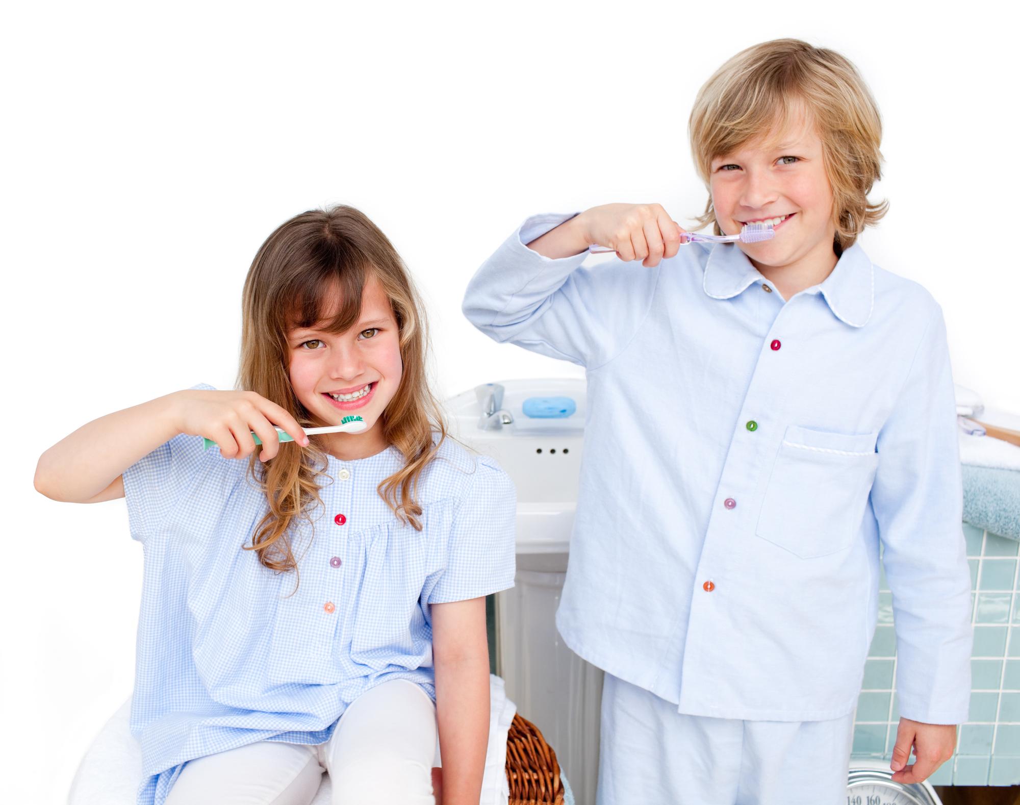 routine chart children brushing teeth