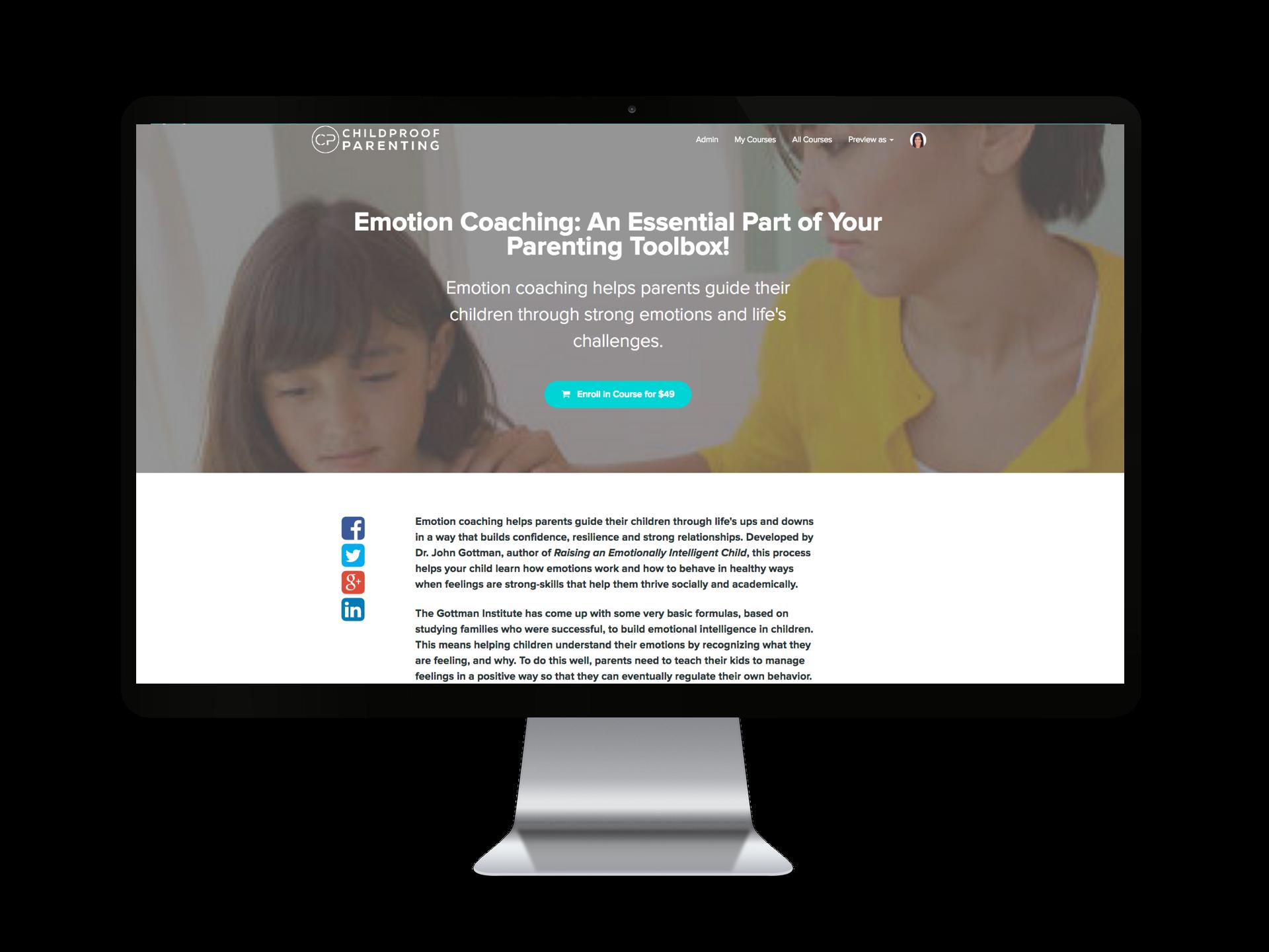 Emotion Coaching Parenting Course
