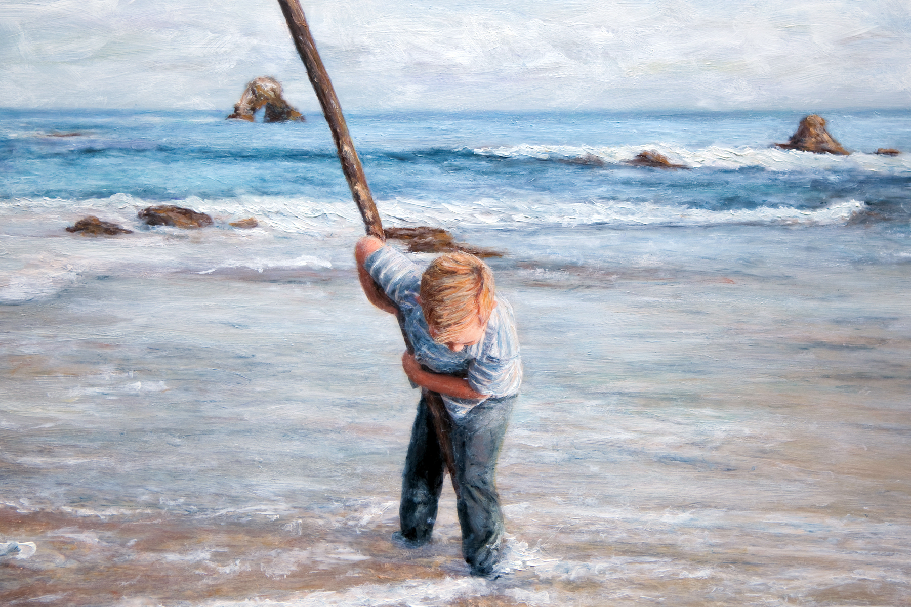 Little Boy with Stick