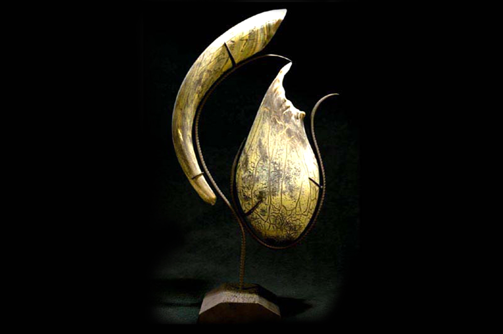 """""""Pouch and Tusk Centerpiece""""(SOLD)"""