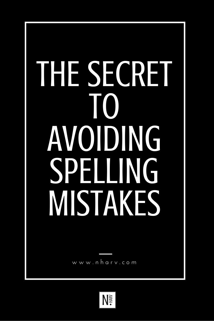 how to correct spelling mistakes in writing