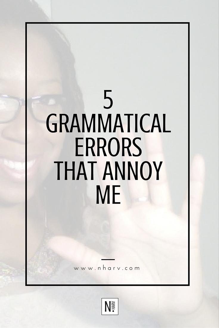 5 different common grammatical errors