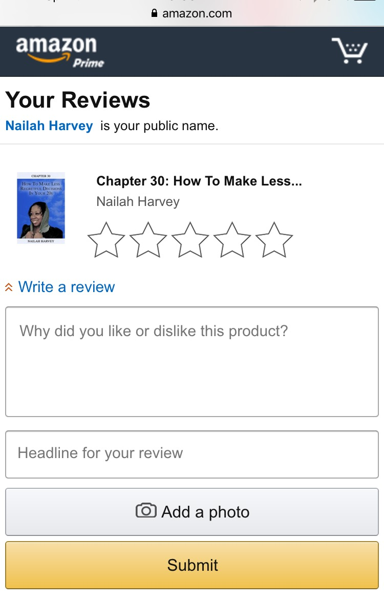 amazon book review page