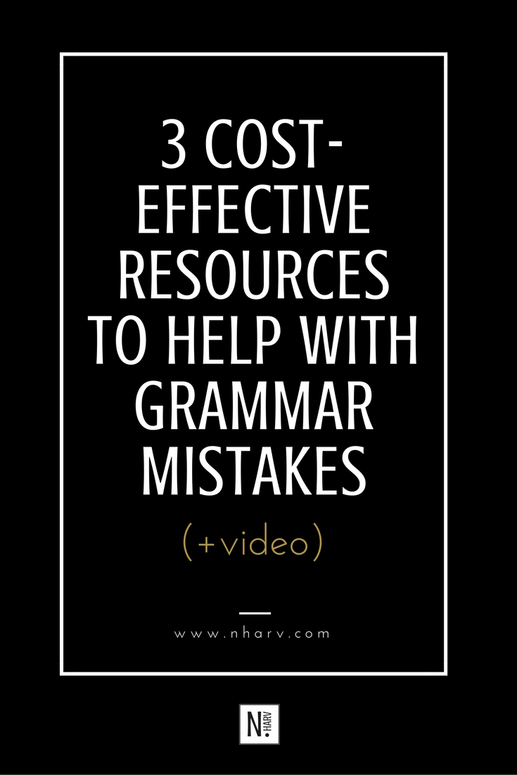 low cost resources to avoid writing mistakes
