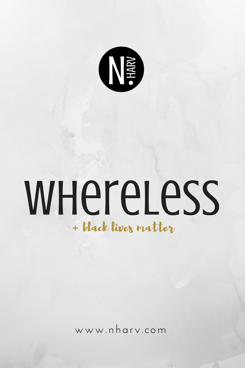 NHARV word of the day is whereless and black lives matter blog