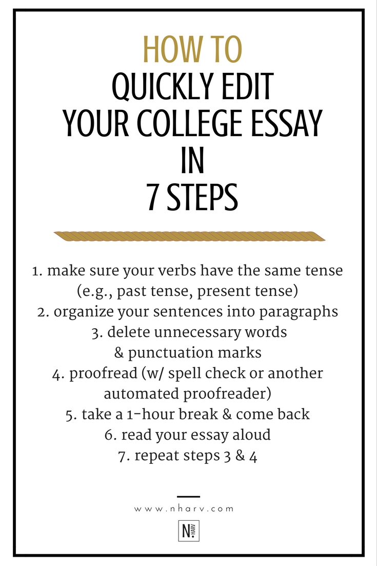 7 steps to editing essays for college students