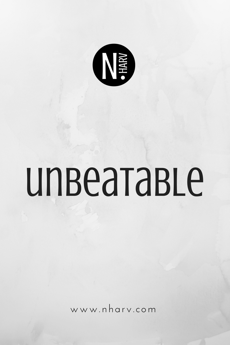 NHARV word of the day is unbeatable