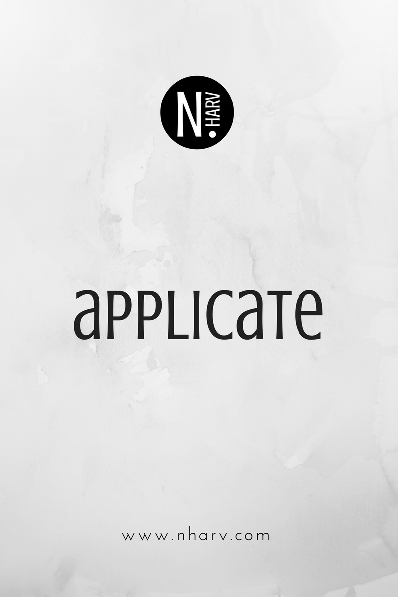NHARV word of the day is applicate