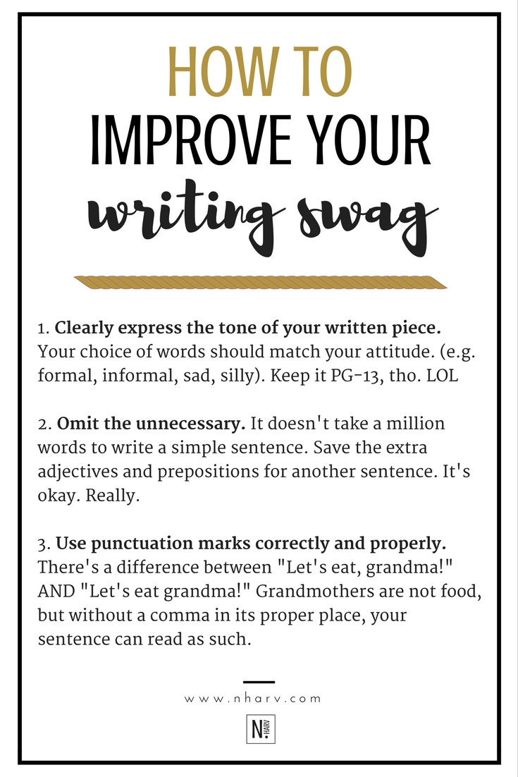How To Improve Your Writing Swag — N.HARV