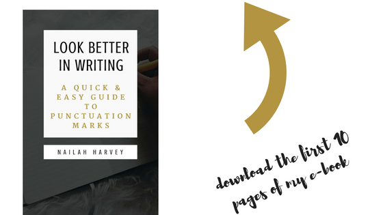 "Sign up to get my ""Look Better In Writing"" book"
