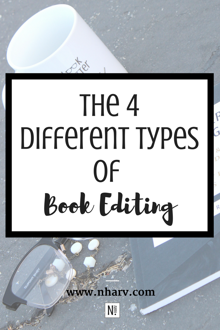 Need to edit your book? Learn the 4 different types of book editing here...