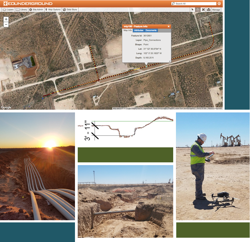 Drone pipeline mapping