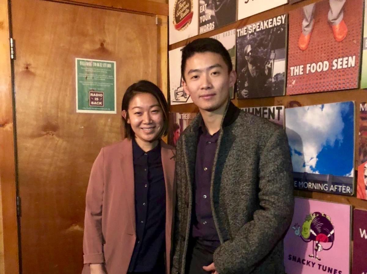 Lynda and Founder Yu Li at the HRN studio