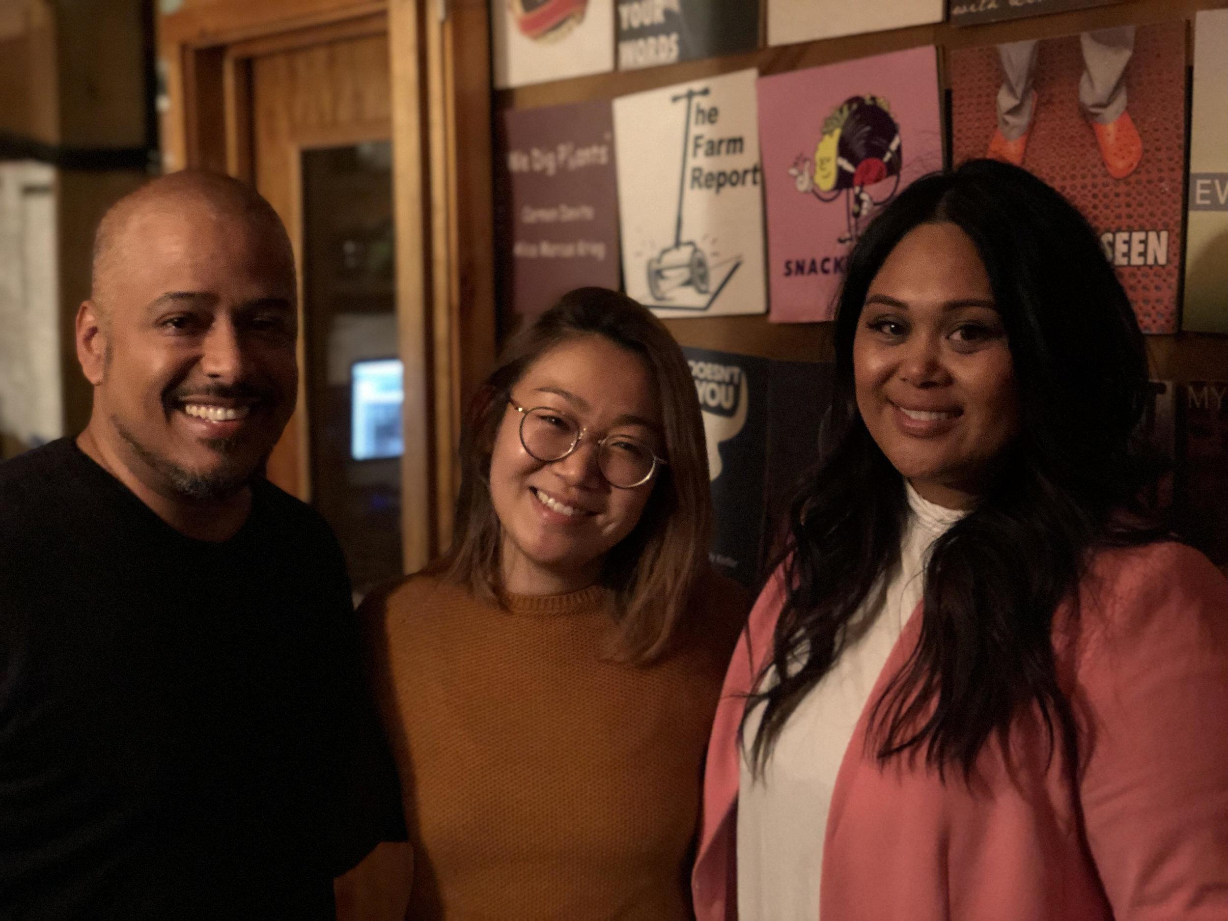 In the studio: Miguel Trinidad, Lynda Liu, Nicole Ponseca