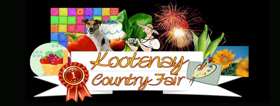 SUNDAY, SEPTEMBER 9th - Kootenay Country Fair | Create pride of ownership and a feeling of satisfaction with a job well done by exhibiting your skills with entries of vegetables, flowers, decorating, art, crafts quilting, canning, baking and so much more. Check us out at www.kootenaycountryfair.com for more information* Hosted by Kootenay Country Fair
