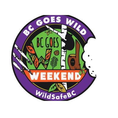 SATURDAY, September 15th (all weekend) - BC Goes Wild Weekend | Join us for great outdoor events and a photo contest on the third weekend of September! The third weekend of September is when we encourage the residents of BC to enjoy a BC Wild Weekend. Hike, paddle, bike, or take part in one of the many activities going on around the province. This is the weekend that WildSafeBC encourages people to safely enjoy wildlife in the wilds. It is our hope that by emphasizing the fact the wildlife should be in the wilds - and not in our urban areas, that people will help us meet our goal of