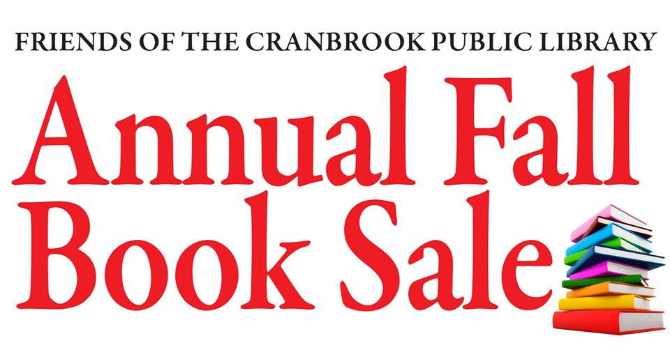 WEDNESDAY, OCT 17th to Sunday, Oct 21st - Used Book Sale for a Good Cause!   Looking for some great books to read this winter? Tons of quality used books at great prices, and for a great cause! All types of books, including childrens books, cook books, novels, biographies, self help, & even DVDs. All proceeds go back into community projects.The book sale runs Weds, Oct 17th - Sun, Oct 21st in the Ktunaxa Gym, 220 Cranbrook St N (near the Cranbrook Library).* Hosted by Rotary Club of Cranbrook Sunrise