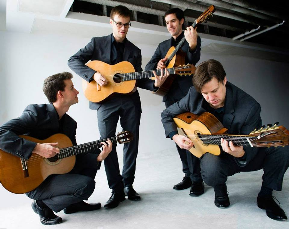 SATURDAY, OCTOBER 20th - In Concert with the Canadian Guitar Quartet   Our First Concert of the 2018-2019 includes the incredible Canadian Guitar Quartet.Since its debut in 1999, the Canadian Guitar Quartet has toured extensively in North and South America, from one standing ovation to the next, establishing a reputation as one of the finest guitar ensembles in the world. They return to the Kootenays to play some original music that shows why audiences around the country enjoy their work so much. Concerto Tradicionuevo, by Patrick Roux is a Tango inspired feast for guitars and orchestra, and CGQ member Louis Trépanier's La Madeleine du Saint-Laurent features timeless Canadian folk melodies. The fine musicians of the SOTK are featured in the timeless Concerto for Violin and Cello by Antonio Vivaldi. We round out the program with Postcards from the Sky by Marjan Mozetich. A hidden gem, this heartfelt music has very quickly become one of the most popular pieces ever written by a Canadian composer.* Hosted by Symphony of the Kootenays