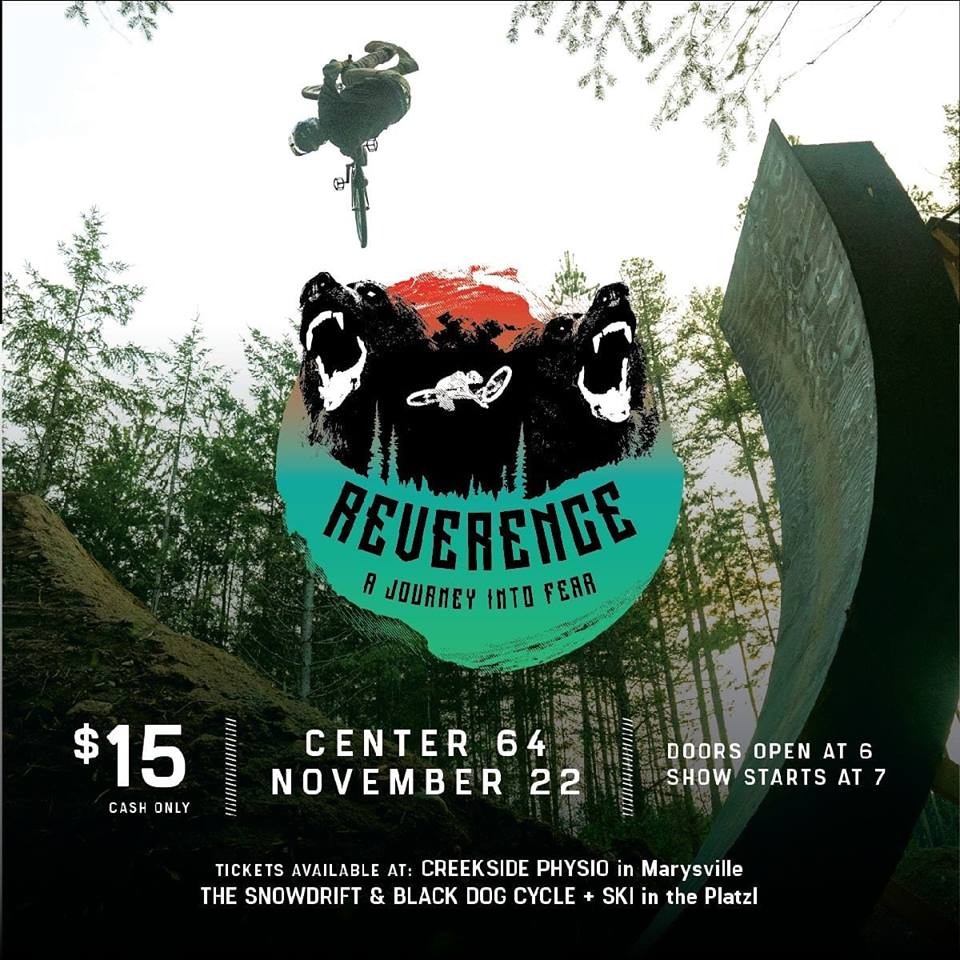 THURSDAY, NOVEMBER 22nd - Kimberley Bike Park Fundraiser   Come on out for a social evening, have an Overtime beer, and watch the world premiere of Reverence! Bring cash for 50/50 and door prizes. All proceeds go to the Kimberley Bike Park.* Showing at Centre 64