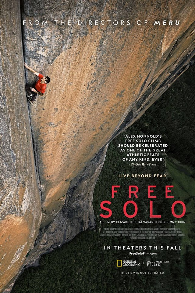 THURSDAY, January 24th - Free Solo - sponsored by Arq Mountain Centre with Special Guest | Alex Honnold completes the first free solo climb of famed El Capitan's 3,000-foot vertical rock face at Yosemite National Park.* Hosted by Rockies Film Festival, Key City Theatre, and ARQ Mountain Centre.