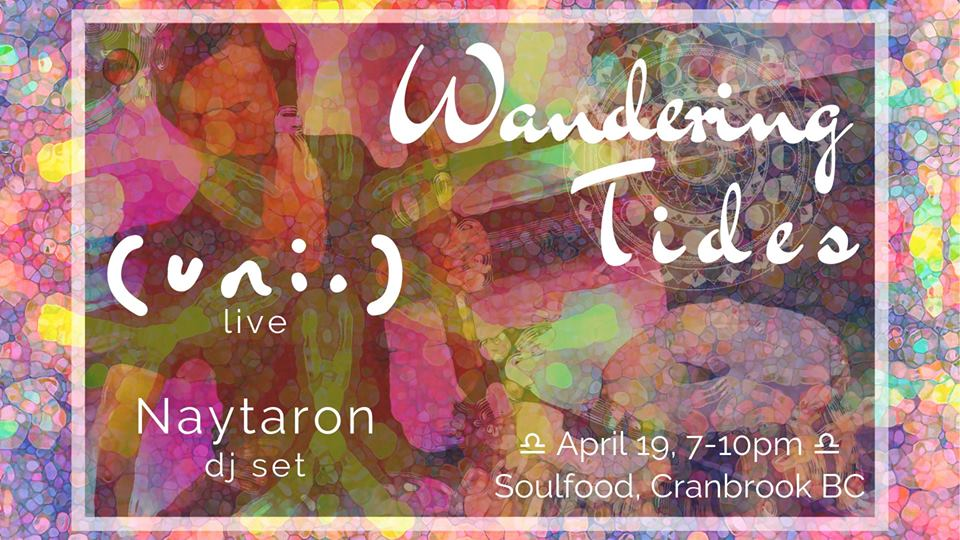 Friday, April 19th - Full Moon with (uni.) & DJ Naytaron | Live electronic world fusion. Tabla, steel and wooden drums, flutes, percussion and electronic beats.Join us for an enchanting full moon musical journey on April 19th featuring (uni.) & DJ Naytaron. This is going to be an amazing night of eclectic tunes and great food.* Hosted by Soulfood