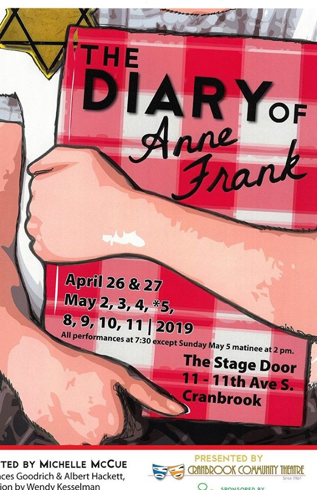 THURSDAY, May 2nd - Sunday May 5th - Cranbrook Community Theatre presents