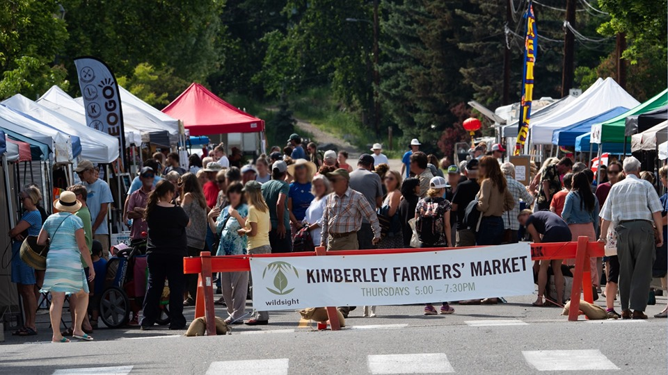 THURSDAY, September 12th - Kimberley Farmers' Market 2019   Fresh food from local farmers and food producers, crafts from local artisans, live music and delicious food are all served up in downtown Kimberley every week during the summer season - rain or shine we'll be there with our incredible vendors!* Hosted by Kimberley Farmers' Market and Wildsight