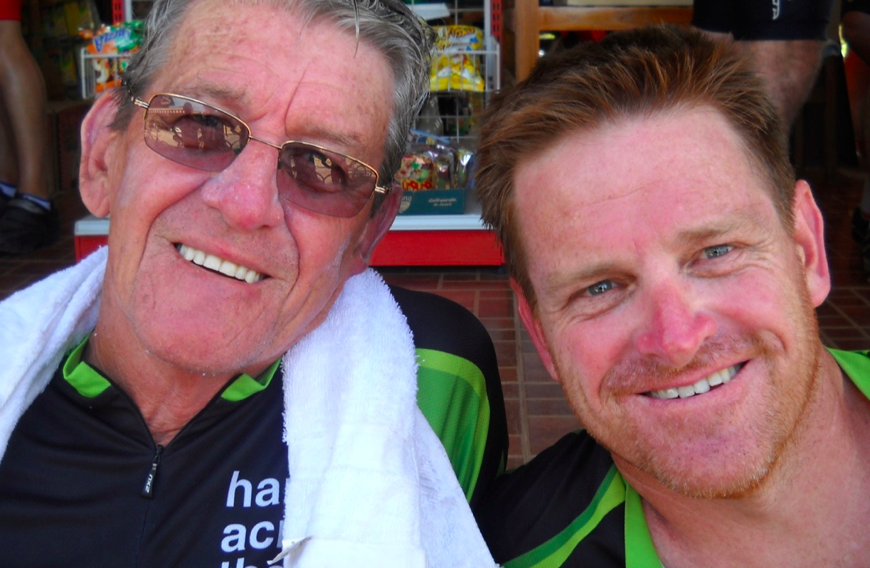 I've shared the ride with Dad, every year since we started in 2009. He has ridden it a couple of times now. First starting in 2011, he came back again in 2012 and then this year he rode, completing the 800kms at the age of 77.