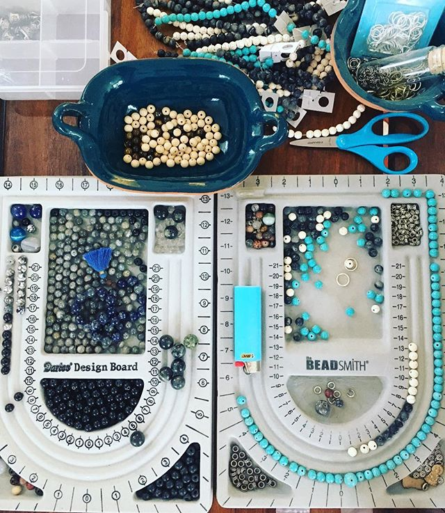 FEELING BLUE...#caribbean #azul #babyblue #howlite #malamaking #create #design #make #hechoenmexico #tulum