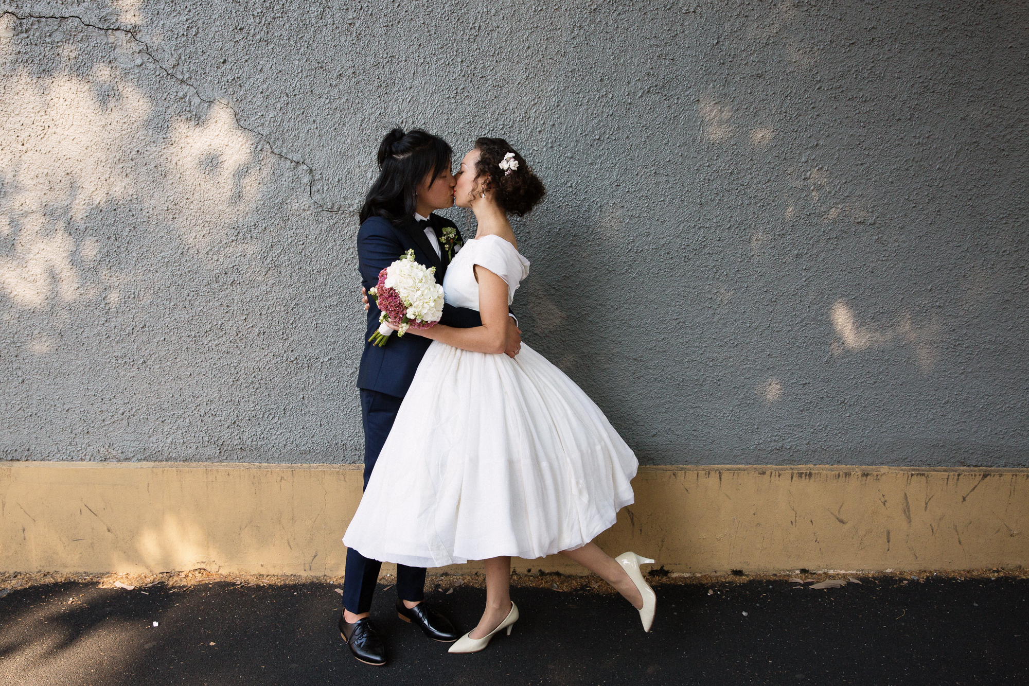 retro inspired wedding in fitzroy