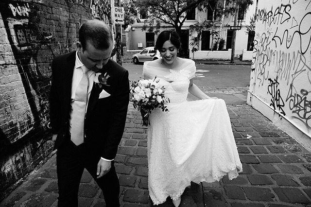 Laneway strolls with Andrea and Dan. #weddinginspo #fineartphotography #weddingdress #theknot #bridalportraits #andforlove#junebugweddings #lookslikefilmweddings #makeportraits  #loveauthentic #fineartwedding #autumwedding #melbourneweddings #loveandwildhearts #weddinginspiration #melbournephotographer #weddingideas #fineartwedding #loveauthentic #fitzroywedding #firstlook #lookslikefilm #blackandwhiteisworththefight #standrewsconservatory #belovedstories #blackandwhite #chasinglight #monochrome #fitzroyweddingphotography #melbournewedding