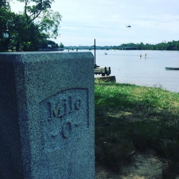 Mile marker zero on the C&O Canal, Georgetown, Washington DC