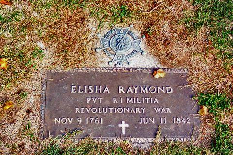 Elisha Raymond, Patriot grave marker