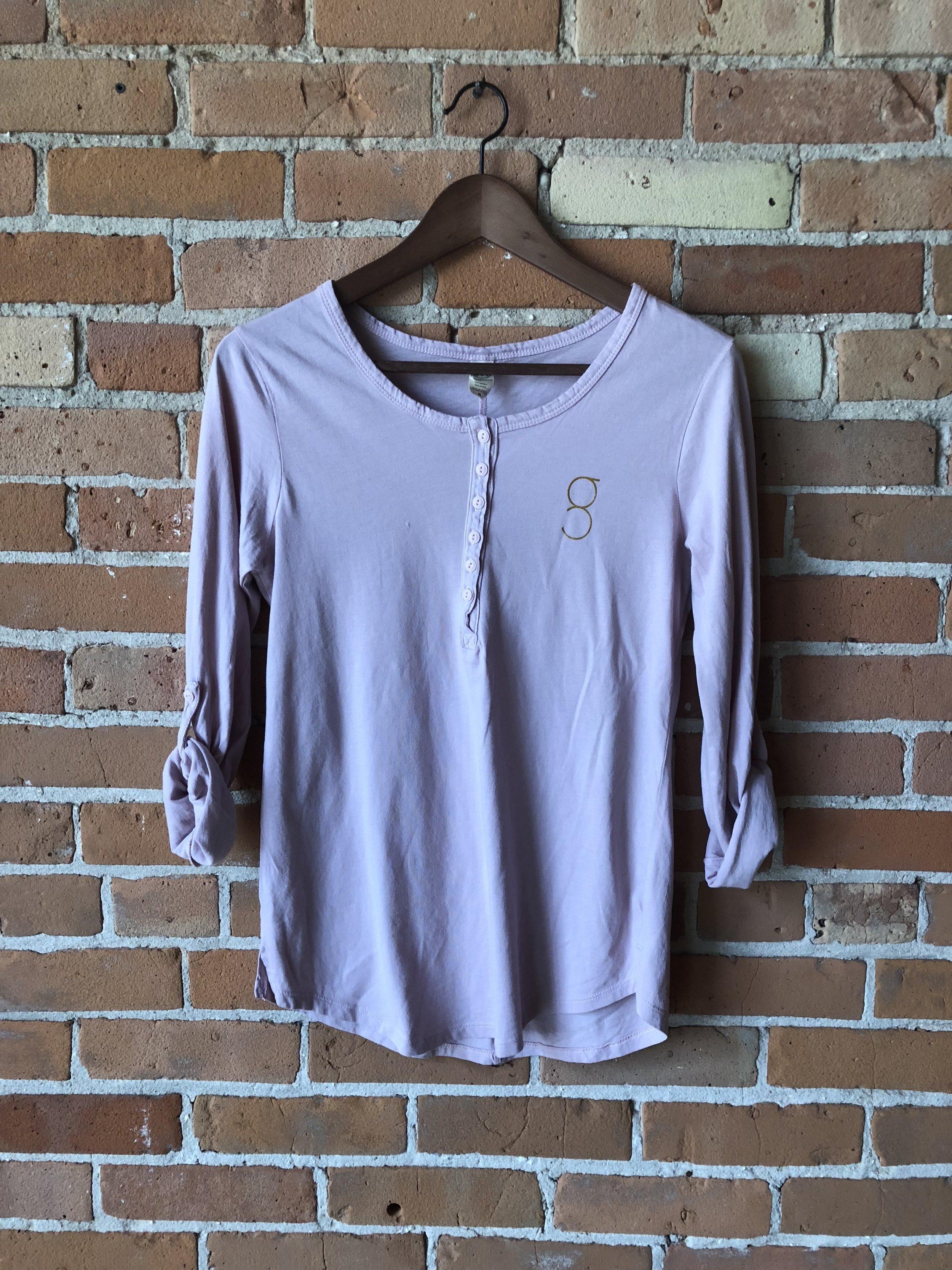 - Pink Grace Yoga Henley Shirt$25