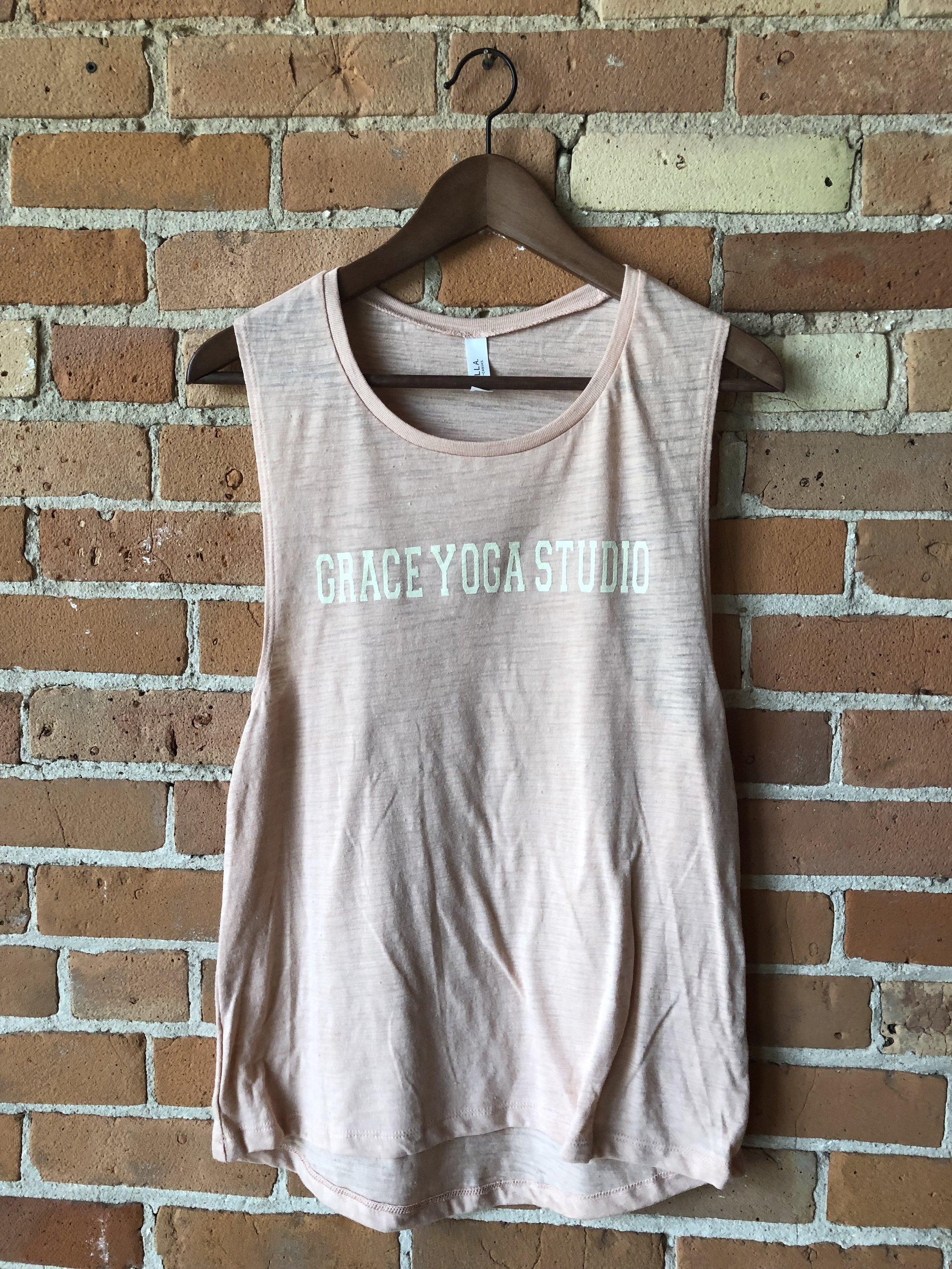 - Peach Grace Yoga Muscle Tank$17