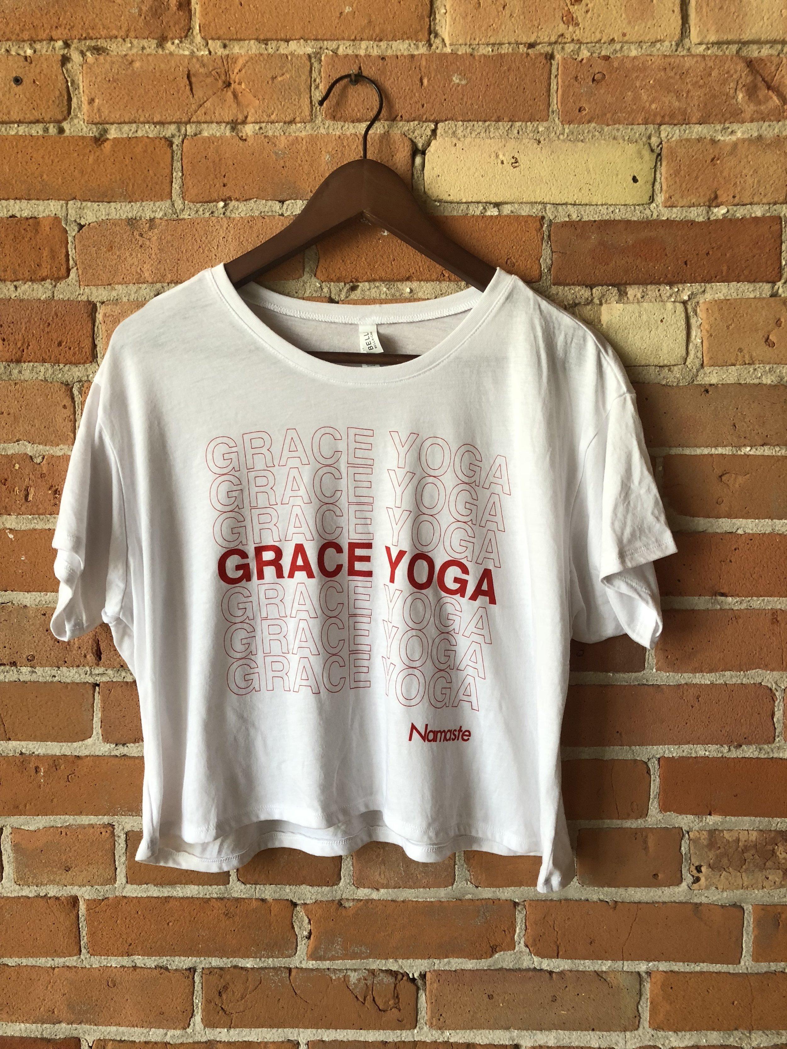 - Grace Yoga Plastic Bag T-Shirt$18