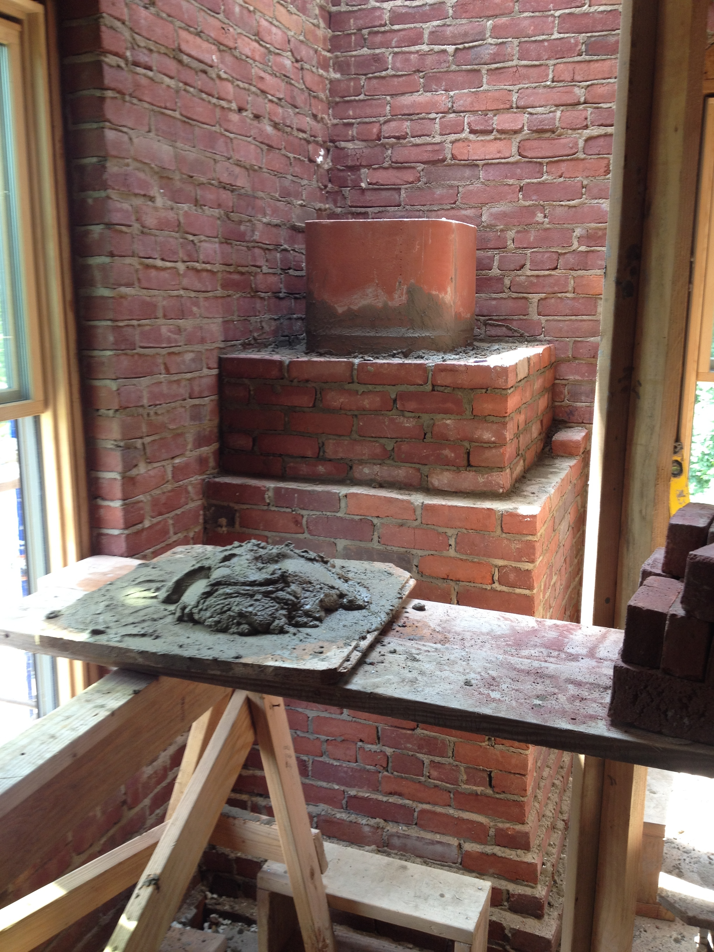 structural masonry, fireplace chimney