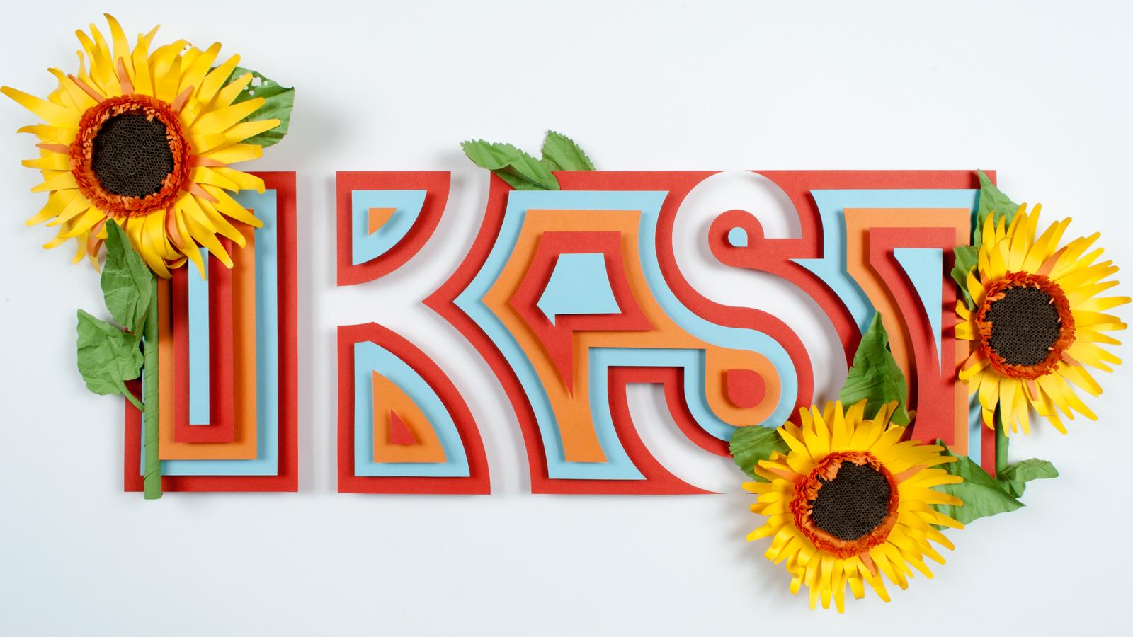 Paper State Flower composition: Kansas