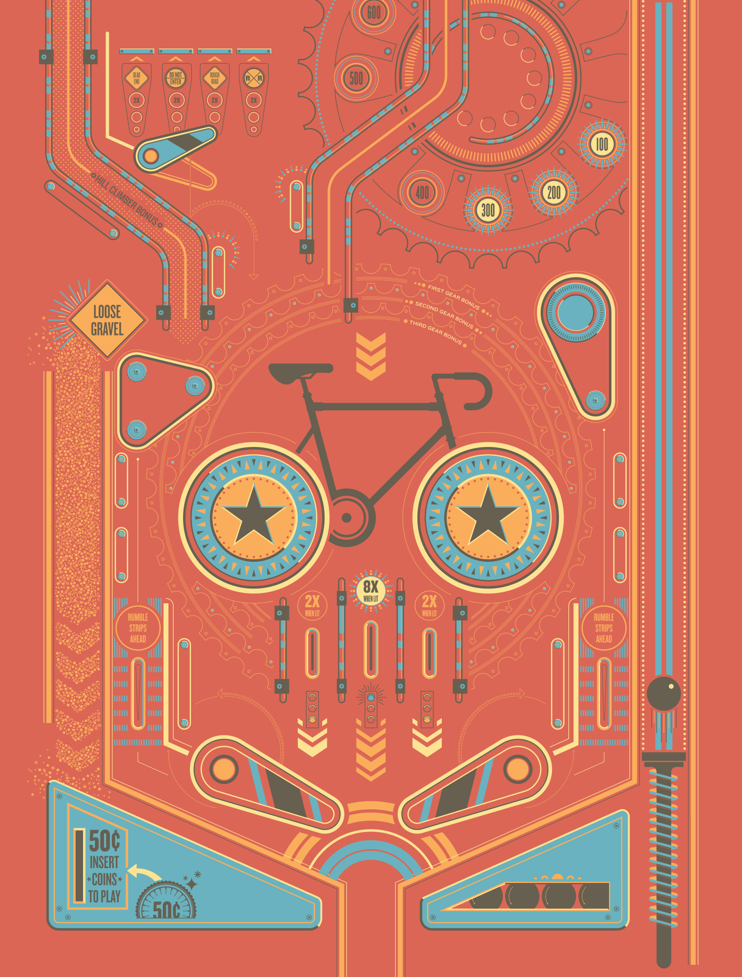 ARTCRANK pinball poster