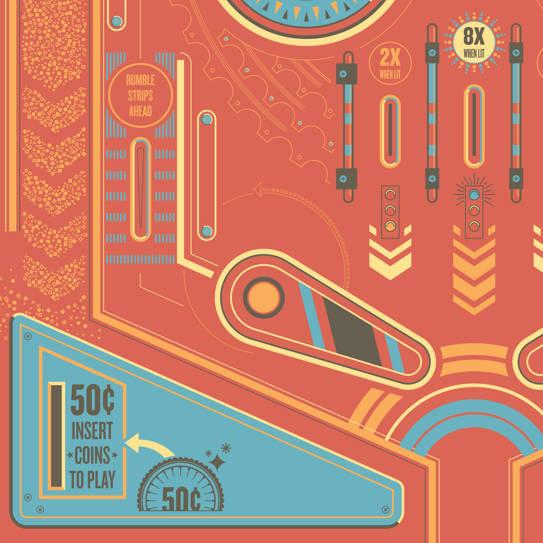 Cycling Pinball poster detail