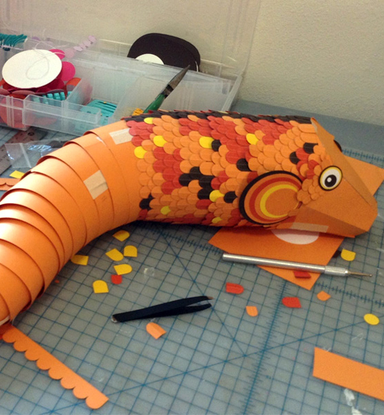 Paper Fish in construction
