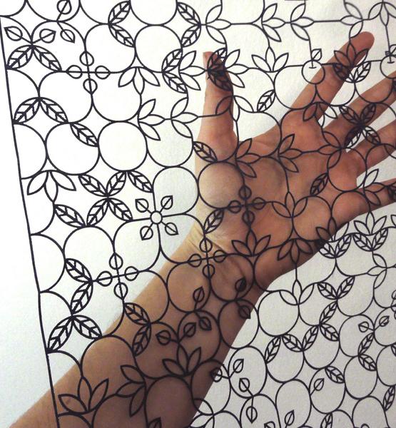 Generative lace panel