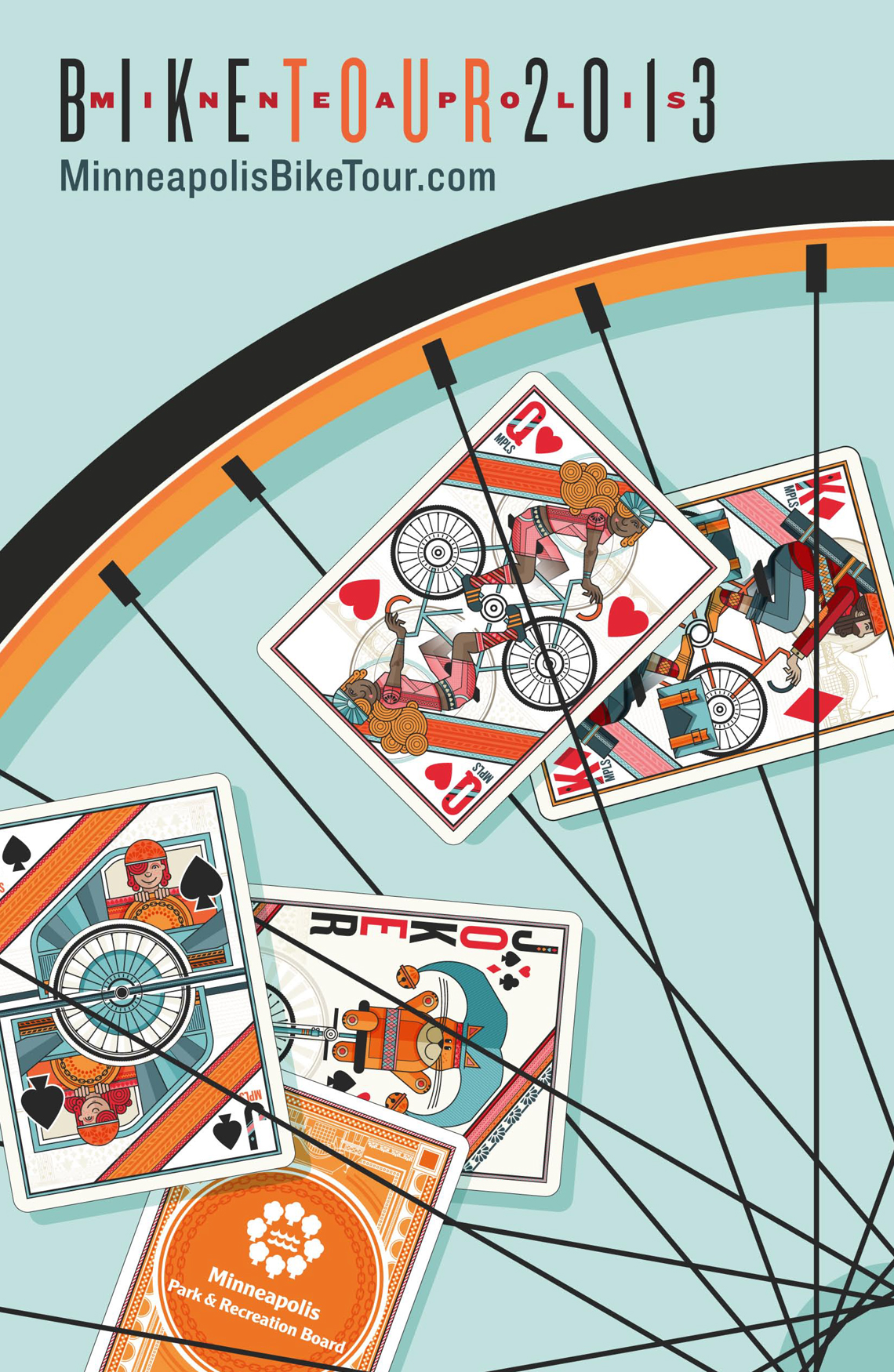 Minneapolis Bike Tour Poster