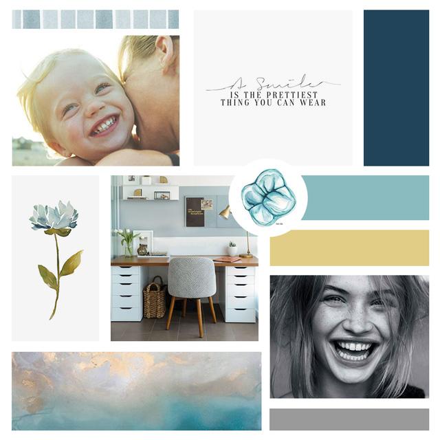 Murphy Dental Group | Inspiration Board | Moodboard | BelaMarca Studio