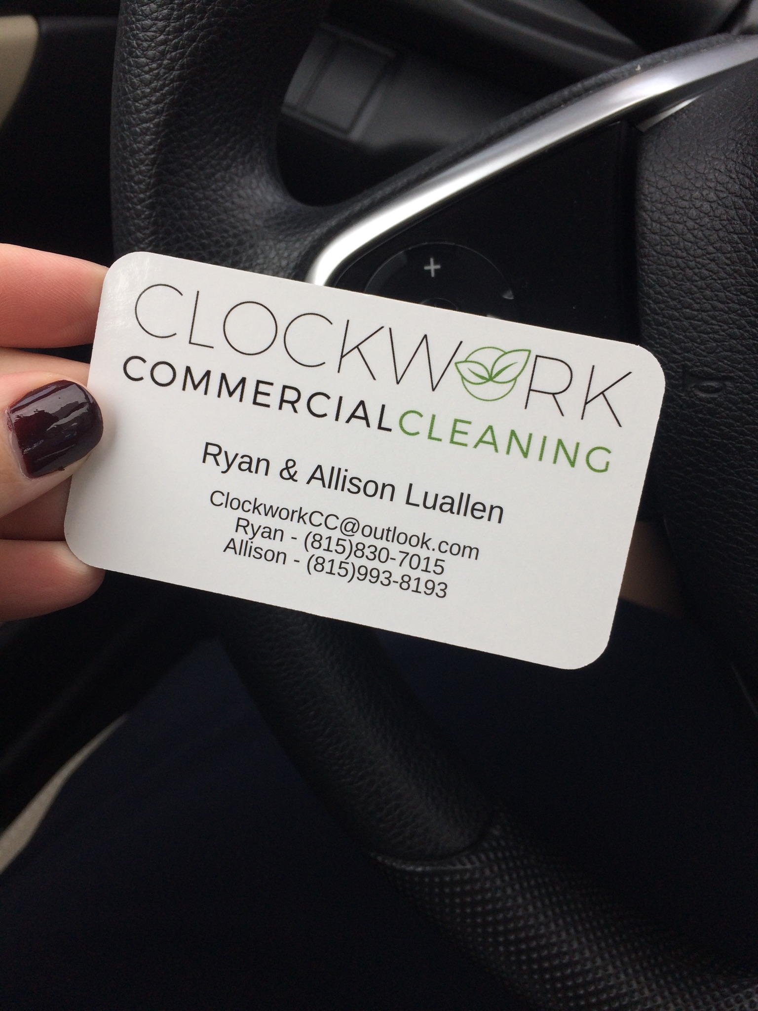Clockwork Commercial Cleaning | Business Card | BelaMarca Studio