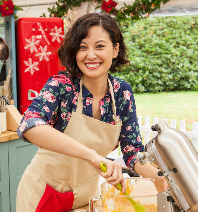 Steph, in 2016 as a finalist contestant on  The Great American Baking Show.