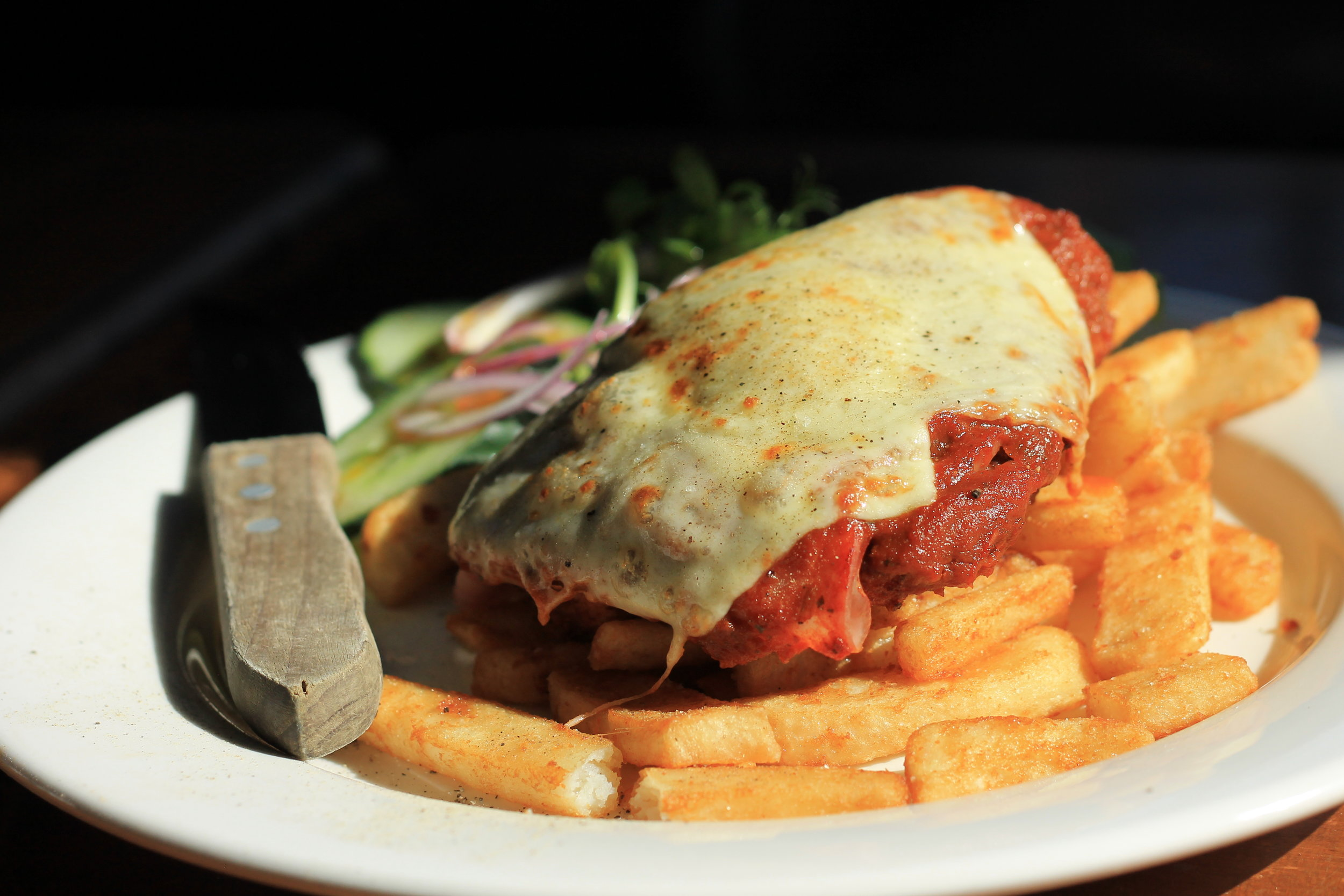 Thursday Parmi - $15 Eggplant or Chicken Parmi's from 5:30pm
